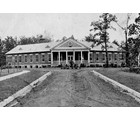 The Tallassee Power Company in 1916 began and completed construction of the Badin Hospital   a one-story brick medical facility with a slate roof.