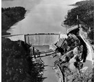 The Narrows Dam, built by Hardaway Construction Company, was completed in June of 1917.